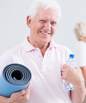 Senior man at Durham Pelvic Health Physiotherapy